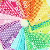 Rainbow of Fabric Squares