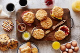 ^ Breakfast biscuits
