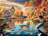 Wood Ducks at the Mill Pond~ PatrickCostello