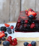 Berry jello cake