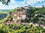 Dordogne France on hilltop
