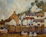 Polperro Harbour by Malcolm Coils