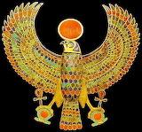 #Jeweled Falcon of Tutankhamun Holding the Ankh- Pinterest