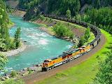 Burlington Northern and Santa Fe Railway Rockie Mountains