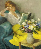 Marcel Dyf, Claudine reading