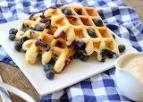 ^ Blueberry Waffles