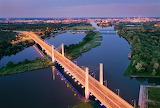 Millennium Bridge Wrocław Poland night