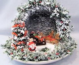 Winter Scene inside Cup and Saucer by Sharon Goldsmith