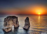 Raouche Rock Sunset, Lebanon