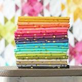 Ombre confetti fabric