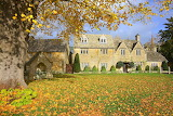 Autumn in the Cotswolds-Lower Slaughter in autumn-Peter Llewelly