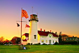Sunrise Chatham Harbor Lighthouse Massachusetts USA
