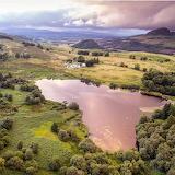Scotland Landscape aerial