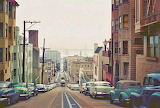 ^ San Francisco street view complete with cable cars, 1940s-'50s