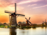 Holanda-molino-atardecer