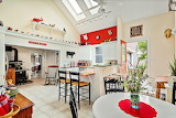 Red Cow Themed Kitchen
