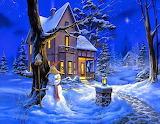 Snowman On Duty