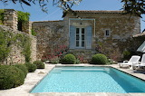 French countryside villa, pool and terrace