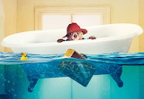 Paddington Bear takes a bath credit wallpaperwide