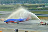 Honor Retiring Captain, Water Cannon Salute