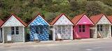 Renovated beach huts