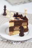 Chess game chocolate cake