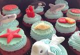 Beach lover's cupcakes