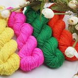 Colorful yarn textile roses