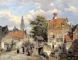 Figure on a bridge -Willem Koekkoek
