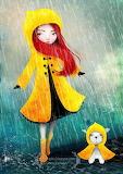rainy day in yellow