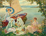 Three Ladies & a Captain at the Picnic~ Edward Cucuel