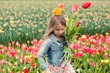 Little-girl-tulips-field-spring