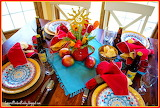 ^ Cinco de Mayo tablescape dinner setting