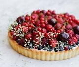 Berry cream cheese tart