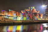 The Guggenheim, Bilbao, Spain light show