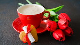 Cup - flowers - heart - valentine