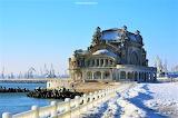 Casino of Constanta winter snow