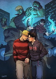 Hulkling Wiccan in civvies