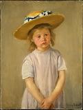 Mary Cassatt, Enfant au chapeau de paille, 1886