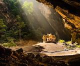 Sun Peaks Through the Mountain at Hua Hin Thailand