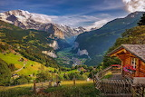 Alpine village, Wengen, Switzerland