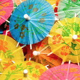 Colorful umbrellas for your drink!!