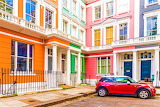 Colorful houses in England