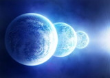 three blue planets