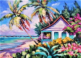 #Tropical Island Cottage by J Clark