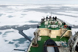 In the Arctic aboard an icebreaker ship