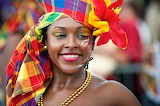 Beautiful, woman, painted face, carnival, colorful