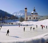 Austria Tyrol Seefeld village ice skating by Johanna Huber
