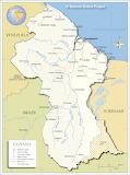 Guyana Kaart