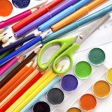 ^ Art supplies